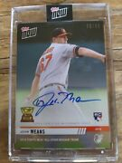 2019 Topps Now Auto Card Rc-11a John Means Orioles All-star Rookie 65/99