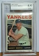 1964 Topps Mickey Mantle 50 Graded 6.5 By Bgs