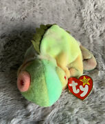 Ty Beanie Baby Iguana Iggy Retired Collectable Kids Toys Retired