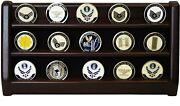 Decomil - 3 Rows Shelf Challenge Coin Holder Display Casino Chips Holder Solid