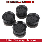 4pcs Air Vent Louvre Air Conditioner Vent Outlet Fit Ford F150 2009-2014 Black