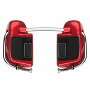 Advanblack Wicked Red Lower Vented Fairing 6.5and039and039 Speaker Pod For Harley 2014+