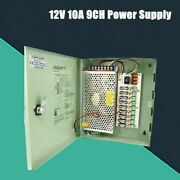 1 Piece 12v 10a 9 Channels Power Supply Switch Box For Cctv Dvr Security Camera