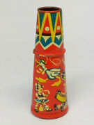 Antique Metal Tin Litho Toy Child Horn Whistle Made In Western Germany