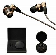 Victor Jvc Ha-fw10000 Wood Series Canal Type Earphone Re-cable / High-res Black
