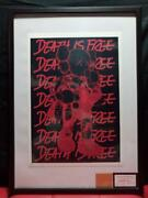 Death Nyc Kaws With Certificate Hand Writing Signature Edition Pop Art Fedex F/s