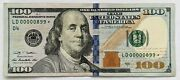 2009-a 100 Bill Federal Reserve Note Fancy Low 3-digit Serial Ld 00000899 Star