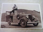1933 Ford Woody Wagon Picture Taker On Roof Neat 11 X 17 Photo Picture