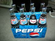 Vintage 16oz 8-pack Pepsi Cola And Carrier Full And Unopened
