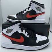 Nike Air Jordan 1 Retro Mid Chile Red White Black [554724-075] Mens And Gs Sizes