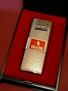 Tanita Butane Gas Lighter With Battery Ignition Gold Plated Heavy Duty T20