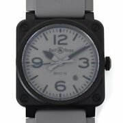 [mint] Bell And Ross Br03-92 Commando Automatic Ceramic Rubber Gray Menand039s Watch