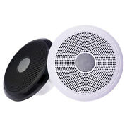 Fusion Xs-f65cwb 6.5 Classic Marine Speakers Pair - White And Black Grill Options