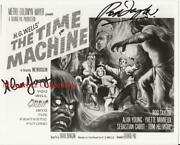The Time Machine Rod Taylor And Alan Young Signed Autographeded 8x10 Bandw Photo