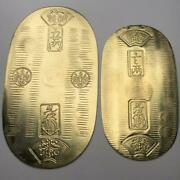 Extremely Rare Old Coins Tenpo Oval Oval Gold Around 1830-1850