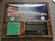1996 Afc Championship Pgh Steelers Three Rivers Stadium Game Used Turf Plaque