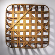 Glitzhome 24and039and039 Farmhouse Rustic Tobacco Basket Vintage Fall Harvest Home Decor