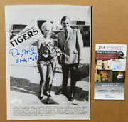 Detroit Tigers Denny Mclain Signed Wire Photo 1968 World Series Tiger Welcome