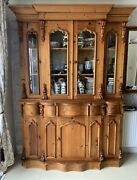 Kitchen Display Cabinet And Large Wall Mirror