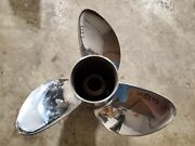 15 1/2 X 21p Evinrude Johnson Rx3 Stainless Steel Propeller 177374 Tbx P5277