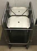 Delfield Shelleymatic Tt2 Stainless Mobile Two Stack 11x15tray Dispenser Cart