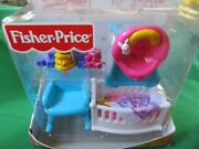 New Fisher Price My First Dollhouse Baby Doll Nursery Loving Family Lot