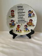 Vintage Albert E. Price Decorative Plate Days Of The Week. Raggedy Ann And Andy