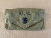 Vintage Wwii M1924 Canvas First Aid Pouch N.y.d.c. Mfg. Co. Dated 1940