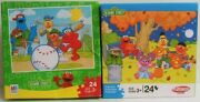 Sesame Street Baseball And Halloween Puzzle 24-pc Complete Elmo And Friends Mb