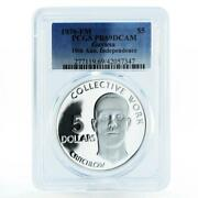 Guyana 5 Dollars 10th Anniversary Of Independence Pr69 Pcgs Silver Coin 1976