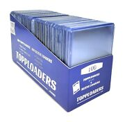 Topploaders - 100 Count Top Loaders Plus 100 Penny Sleeves Our Best Card Holder