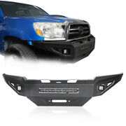 Steel Front Bumper W/led Light Or Rear Bumper W/tire Carrier For 05-15 Tacoma