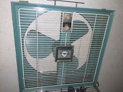 Vintage Emerson Electric Mid Century Box Fan Aqua Two Way Thermostat Tested