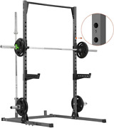 Power Squat Rack Adjustable Exercise Power Cage Weight Lifting Workout Station