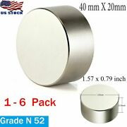 3/5/6pcs Thick N52 Neodymium Rare Earth Craft Magnet Super Strong Huge 40x20mm