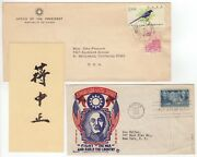 Chiang Kai-shek 1887-1975 Andndash Excellent Signature On A Card + Fdc