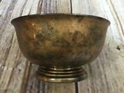 Vintage A Gorham Silver Original Footed Round Candy Bowl E P Yc778 Silver Plate