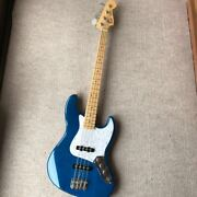 Fender Blue 1999-2002 Electric Jazz Bass Guitar Made In Japan S/n P095173