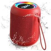 Portable Wireless Speaker Bluetooth Outdoor Speakers, E7-l Small Speakers Red