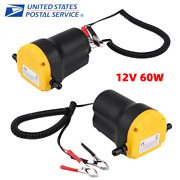 12v/60w Dc Electric Oil Diesel Transfer Pump Fluid Extractor Siphon