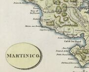 Martinique Map C1805 By Arrowsmith Caribbean Island Original With Hand Colour