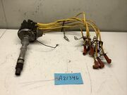 1974 Chevy 350 V8 Delco Remy Engine Ignition Distributor W/ Cap And Wiring