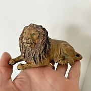Vintage 1930s Elastolin Toy Zoo Animal Figure Male Lion Laying Down