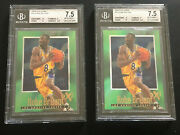 Lot Of 2 Kobe Bryant 1996-97 E-x2000 Rookie Bgs 7.5 W/ Triple 9 Subgrades 30
