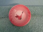 Vintage 3 Butter Pat Pink With Goose Rare Unmarked Free Shipping