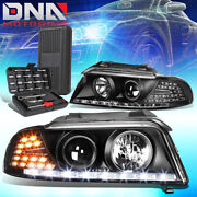 For 1996-2001 Audi A4 Quattro Led Drl Black Housing Projector Headlights+tools