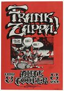 Frank Zappa And Alice Cooper 1972 Tour Poster Signed By Artist Rick Griffin