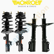 For 07-11 Toyota Camry 2.4l 2.5l Monroe Front Quick Struts And Rear Strut Assembly