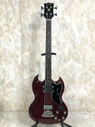 Orville Eb-3 4 Strings Wine Red Electric Bass Guitar Japan Shipped