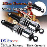267mm 10.5 Motorcycle Shock Absorbers Chrome Damper For Harley Electra Glide